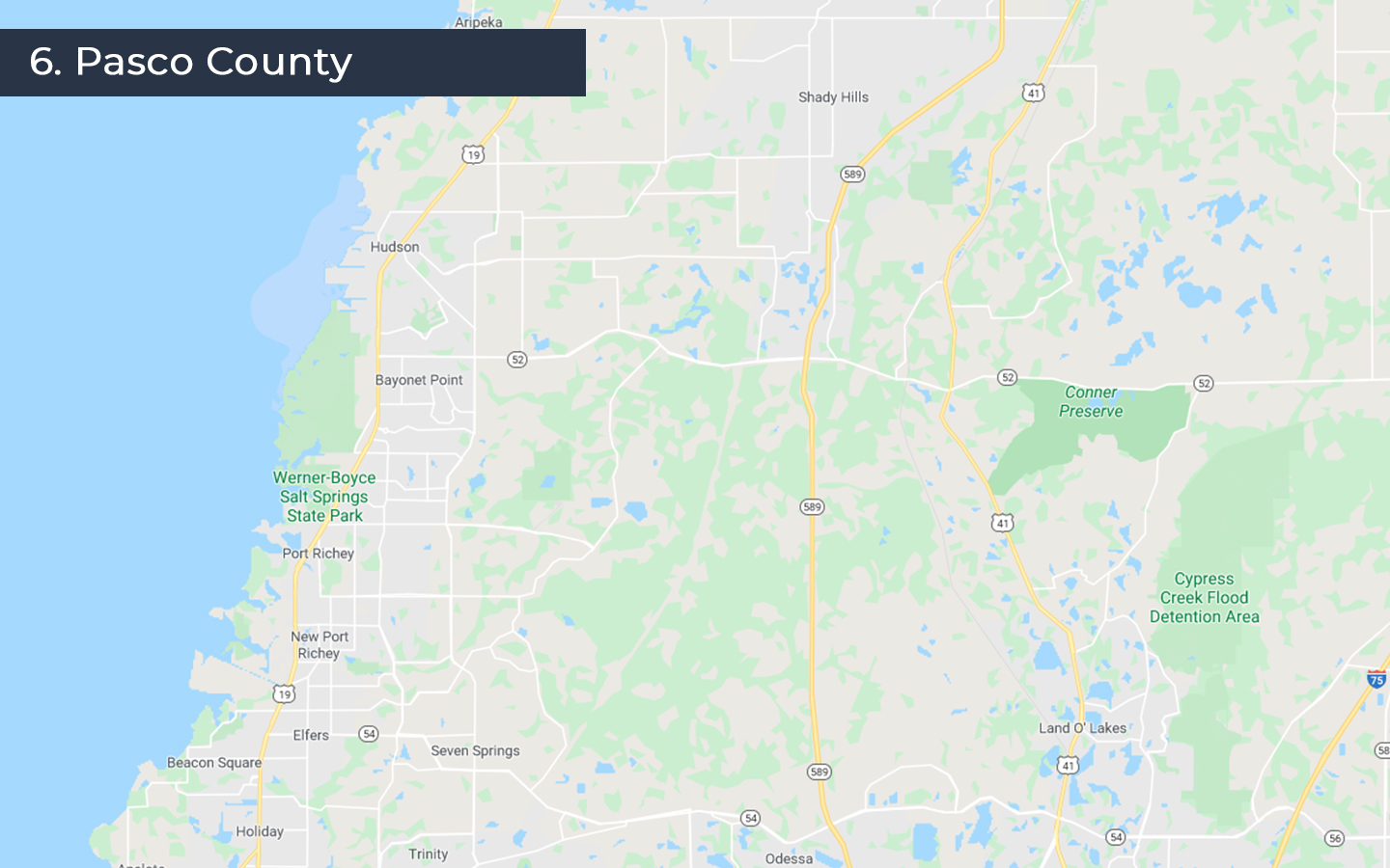 map of pasco county